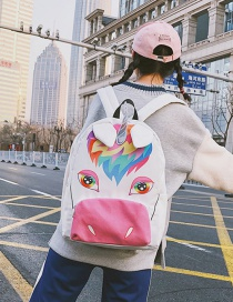 Lovely Multi-color Unicorn Shape Decorated Backpack