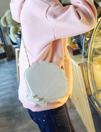 Lovely White Shell Shape Decorated Bag