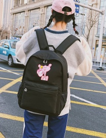 Fashion Red Pink Panther Decorated Backpack