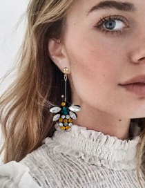Fashion Multi-color Bee Shape Decorated Earrings