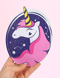 Fashion Purple Unicorn Shape Decorated Wallet
