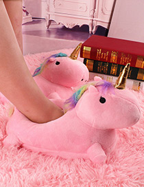 Fashion Pink Unicorn Shape Decorated Shoes