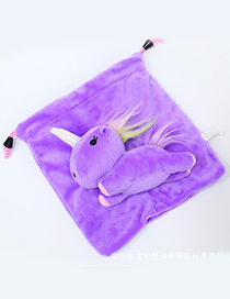 Lovely Purple Cartoon Unicorn Design Cosmetic Bag(or Wallet)