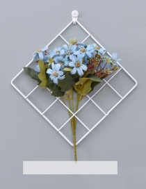 Fashion White+blue Grid Shape Design Pure Color Ornament(with Tiffany Flower)