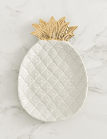 Fashion White Pineapple Shape Design Simple Tray