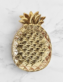 Fashion Gold Color Pineapple Shape Design Simple Tray