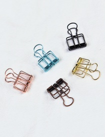 Fashion Multi-color Color Matching Decorated Hollow Out Clips(small 5pcs)