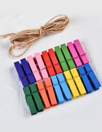 Fashion Multi-color Color Matching Decorated Clips(20pcswith Rope)