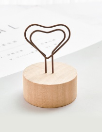 Fashion Brown Heart Shape Decorated Business Card Holder