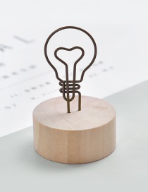 Fashion Brown Bulb Shape Decorated Business Card Holder