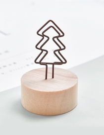 Fashion Brown Tree Shape Decorated Business Card Holder