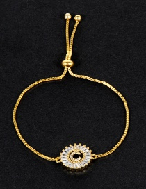 Fashion Gold Color C Letter Shape Decorated Bracelet