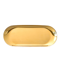 Luxury Gold Color Pure Color Decorated Storage Tray