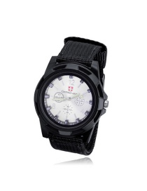 Fashion White+black Color Matching Design Simple Watch