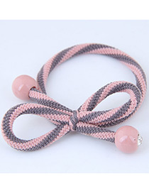Sweet Pink+gray Bowknot Shape Design Hair Band