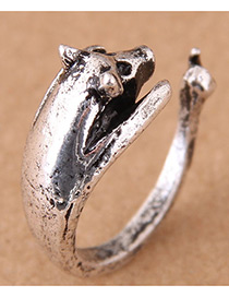 Vintage Antique Silver Pig Shape Design Opening Ring