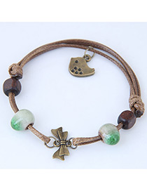 Vintage Green Bowknot Shape Decorated Bracelet