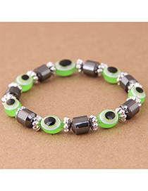 Fashion Green Eye Shape Decorated Bracelet
