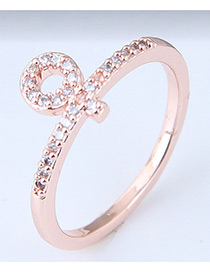 Fashion Gold Color Circular Ring Shape Decorated Ring