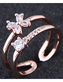 Fashion Gold Pure Color Decorated Ring