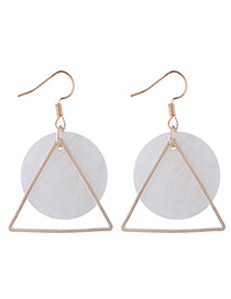 Fashion White Triangle Shape Decorated Earrings