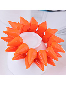 Fashion Orange Rivet Shape Design Pure Color Bracelet