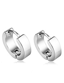 Fashion Silver Color Pure Color Decorated Simple Earrings
