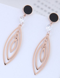 Fashion Rose Gold Hollow Out Design Earrings
