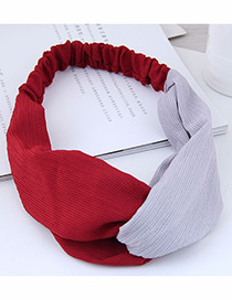 Fashion Red Color Matching Decorated Headband