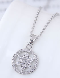 Fashion Silver Color Star Shape Pendant Decorated Necklace