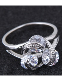 Fashion Silver Color Hollow Out Design Ring