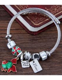 Fashion Silver Color+red Goldfish Shape Decorated Bracelet