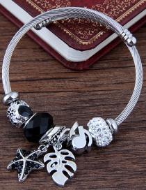 Fashion Black Star Shape Decorated Bracelet
