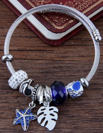 Fashion Sapphire Blue Star Shape Decorated Bracelet