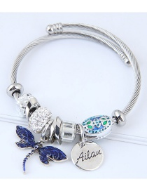 Fashion Blue Dragonfly Shape Decorated Bracelet