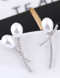 Fashion White Pure Color Decorated Earrings