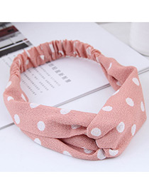 Fashion Pink+white Spot Shape Decorated Headband