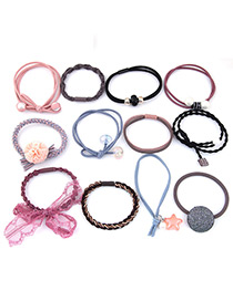 Lovely Multi-color Bowknot&flower Decorated Hair Band(12pcs)