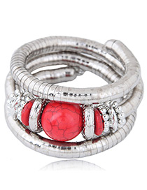 Fashion Red Multi-layer Design Bracelet