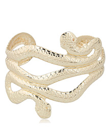 Fashion Gold Color Snake Shape Decorated Opening Bracelet