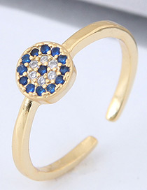 Fashion Gold Color Round Shape Decorated Ring