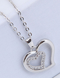 Fashion Silver Color Hollow Out Design Necklace