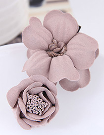 Fashion Pink Flower Shape Decorated Hairclip