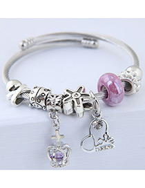 Fashion Purple Crown Shape Decorated Bracelet