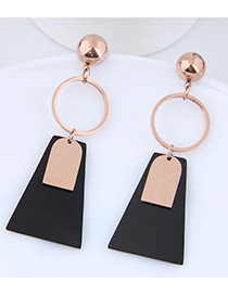Fashion Rose Gold Color Matching Decorated Earrings