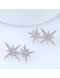 Sweet Silver Color Bauhinia Shape Design Earrings