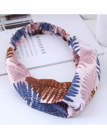 Fashion Pink Leaf Pattern Decorated Hairband