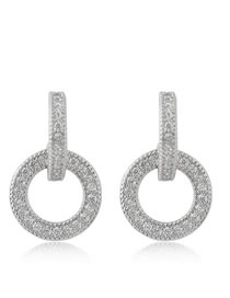 Sweet Silver Color Round Shape Design Hollow Out Earrings