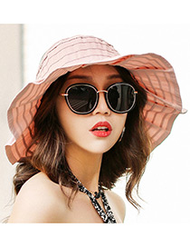 Fashion Light Pink Pure Color Decorated Hats