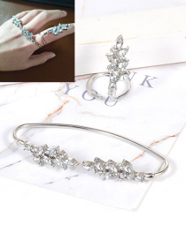 Fashion Silver Color Water Drop Shape Decorated Ring
